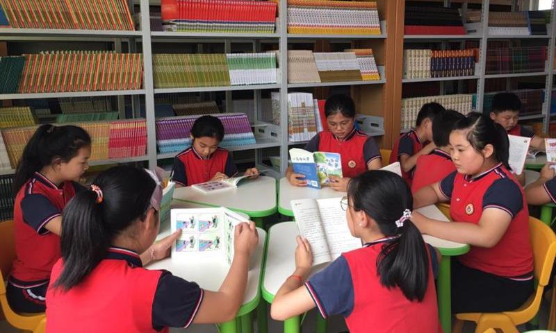 临沂市下村乡中心小学举行语文学科教室捐赠仪式